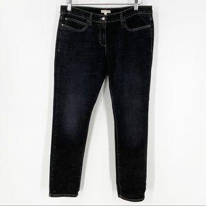 EILEEN FISHER Black Denim Jeans 14 Petite Dark